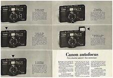 PUBLICITE ADVERSTISING   1981   CANON   appareil photo autofocus  ( 2 pages)