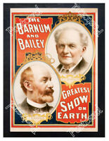 Historic Barnum and Bailey Greatest Show on Earth Circus Advertising Postcard
