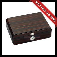 Doreen Cigar Humidor, 30+ Cedar Cigar Box, with Humidifier & Hygrometer, Brown