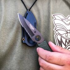 """7"""" Military Tactical Fixed Blade Hunting Survival Combat Neck Knife Dagger New"""
