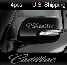 4 CADILLAC Stickers Decals Door handle Wheels Wing Mirror Rims CTS SILVER