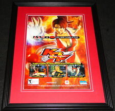 2004 King of Fighters Playstation 2 PS2 Framed 11x14 ORIGINAL Advertisement