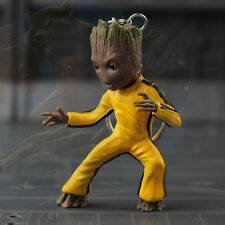 Bruce Lee Little Baby Groot Guardians of the Galaxy vol.2 Key Ring Figurine