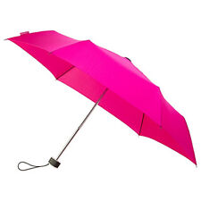 Señoras Minimax plana Supermini resistente al viento Paraguas Plegable Manual-Rosa