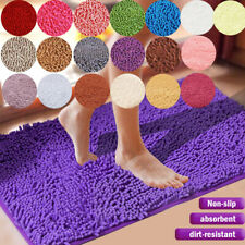 Soft Microfiber Shaggy Non Slip Bath Mat Bathroom Shower Rugs Carpet Absorbent