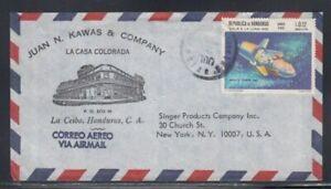 HONDURAS Commercial Cover La Ceiba to New York City 2-7-1970 Cancel