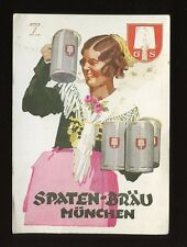 Germany Munich SPATEN-BRAU advert PPC 148x106mm faults