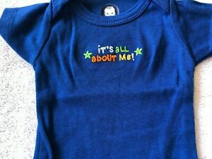 Gerber boy size newborn one piece infant bodysuit it's all about me! onesie