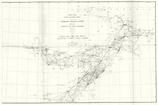 MARYLAND WEST VIRGINIA VIRGINIA PENNSYLVANIA. USCGS Triangulation 1881 old map