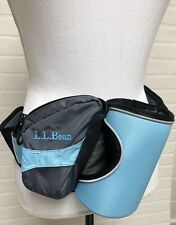L.L. Bean Fanny Pack Bottle Keeper Holder Lumbar Waist Belt Blue Clean!