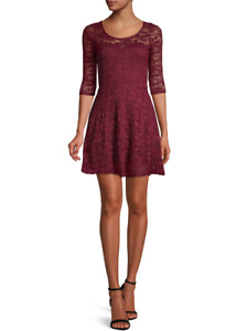 Material Girl Lace Illusion Skater Dress Size S