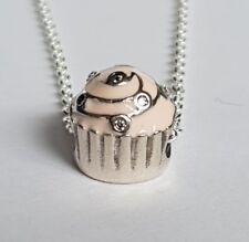 Genuino Pandora plata encanto grano Magdalenas Pasteles Dulce Rosa 791891EN68