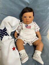 Middleton Infant Baby Boy Doll 21 in Stars & Stripes Medium by Reva Schick