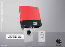 SMA Sunny Boy SB3000TL-US-22 Solar inverter w/AFCI & Secure Power Supply