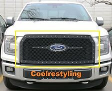 Ford F-150 2015-2016 2017 Black Wire Mesh Rivets Studs Grille Replacement Insert