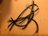 """42"""" Vintage Shielded Wire 1961 for Guitar Amplifier Wiring Black Cable"""
