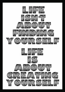 Life Is About - Inspirational Motivational Quote Typography Art Gift Poster