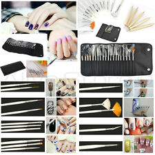 20pc NAIL ART DESIGN painting EJ Detailing Pen Brush Manicure Tool Kit Set