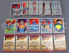 Return of Superman 1993 99 Base Trading Card Set w/ Checklist DC Comics Good-VG