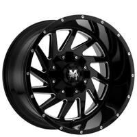 "4ea 20x12"" Off Road Monster Wheels M12 Matte Black Milled Rims(S42)"