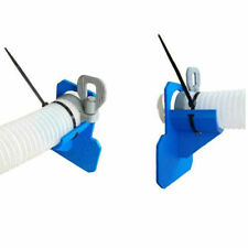 More details for 1pc swimming pool pipe holder supports pipes 30-38mm hose outlet with cable tie