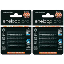 8x Panasonic Eneloop Pro AAA Rechargeable LSD NiMH Batteries - JAPAN MADE