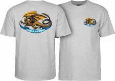 Powell Peralta Oval Dragon Skateboard T Shirt Ash Grey Xxl