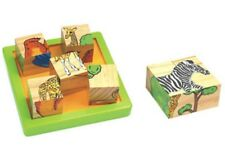 Wooden 9 Pc Block Animal Puzzle Educational Learning Toy