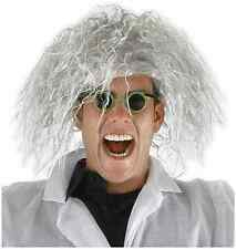 Mad Scientist Wig Glasses Doctor Fancy Dress Halloween Adult Costume Accessory