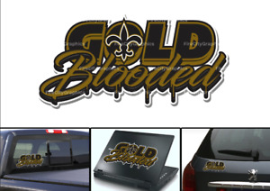 New Orleans Saints Gold Blooded Vinyl Vehicle Car Laptop Wall Sticker Decal
