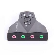 Scheda Audio USB 2.0 7.1 Ch 3D Doppio Microfono 3.5mm Cuffie Connettore Jack