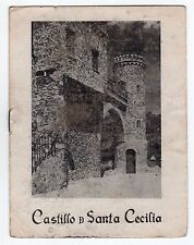 1940s CASTILLO DE SANTA CECILIA Guanajuato Mexico BOOKLET Travel MEXICAN MX