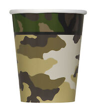 Camo Party Army Party Cups, Military Cups Birthday party Cups