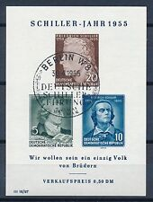 Ungeprüfte Briefmarken der DDR (1955-1959) als Einzelmarke mit Sonderstempel