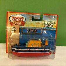 NEW RARE THOMAS & FRIENDS WOODEN RAILWAY CAPTAIN MISTY ISLAND BOAT SHIPS FREE