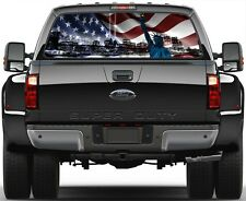US American Flag 9/11 NY Libery Statue Window Graphic Decal  Truck