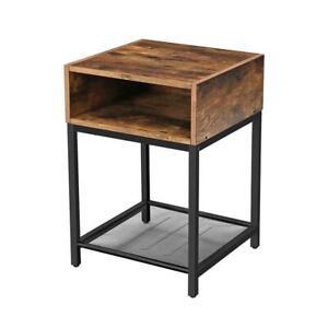 Table de chevet HARRY bois métal H58cm