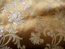 Vintage French Rich Gold Floral Brocade Damask Furnishings Fabric ~ upholstery