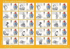 PADDINGTON BEAR - 20 x UNUSED 1st Class Stamps + 20 Stickers - Self Adhesive