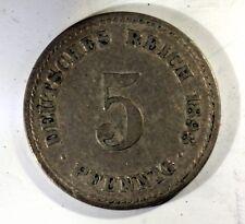 Allemagne Germany 5 pfennig 1898 A cu/nickel  ACA909