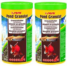 2x Sera Pond Granulat 1L = 2 Liter Teichsticks für Goldfische Teichfutter Sticks