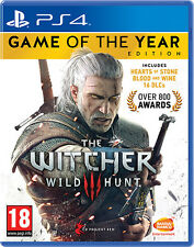 The Witcher 3 Wild Hunt GOTY Edition Game Of The Year PS4 Playstation 4 IMPORT