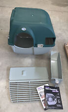 New listing Omega Paw Vmra20-1-Pr Roll'n Clean No Scoop Self-Cleaning Cat Litter Box, Green