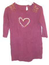 RIVER ISLAND - Pretty Baby Girls Burgundy & Gold Dress Outfit 18-24 Months VGC