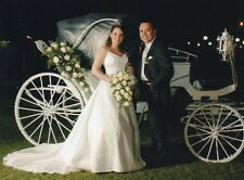 Simonne Bride Princess 👸🏼 Wedding Gown Dress White Embellished  Flowers Sz 6