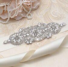 Wedding Bridesmaid Party Dress Rhinestone Crystal Pearl Applique Sash Belt