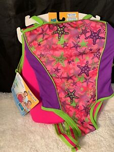 "Aqua Leisure Swim School 2 Piece Swim Trainer Level 2 Girl 33 - 55 Lbs 22"" Chest"