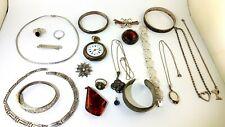 schmuck Konvolut Armband Kette Ring Taschenuhr 800 835 925 silber  292 gram