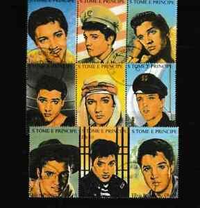 "#3818=S Tome E Principe used set of 1994 ""ELVIS PRESLEY"" stamps"