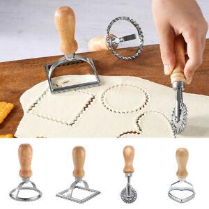 Ravioli Stamp Maker With Wooden Handle Cutter Pasta Maker Mold For Ravioli Cook